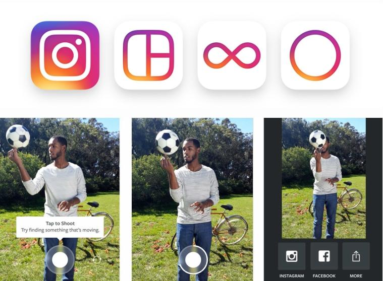 Boomerang видео в Instagram